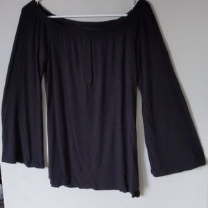 Super soft black knit. Lightweight.